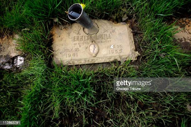 The mudcaked grave marker for 14yearold Emmett Till whose murder in Mississippi in 1955 is considered one of the events that accelerated the Civil...