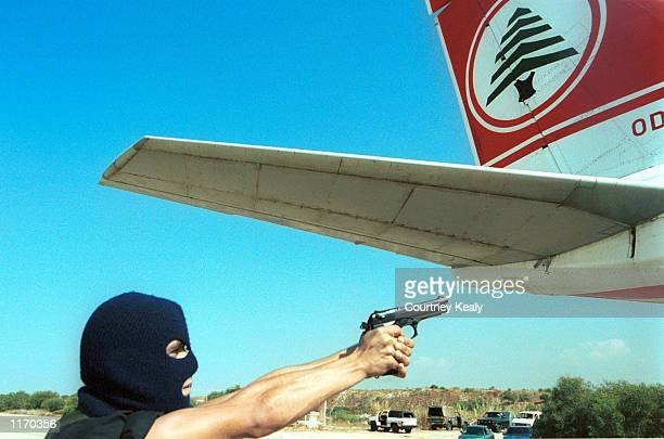 The Mukefaha, a Lebanese Army anti-terrorism special unit, train at the Beirut International Airport October 26, 2001 in Lebanon. The same airport...