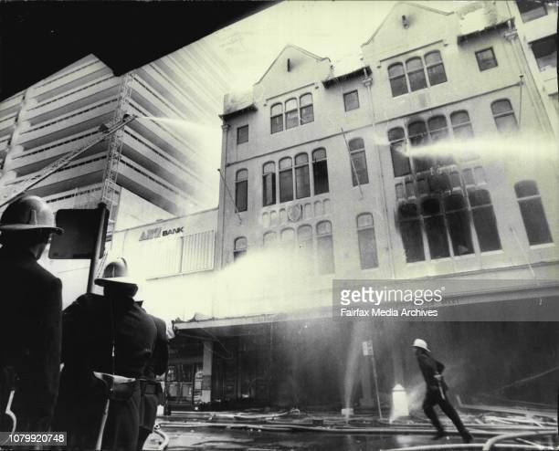 The multi story building in Castlereagh Street City is gutted by fire this afternoon Firemen fought the fire with houses from the streets adjoining...