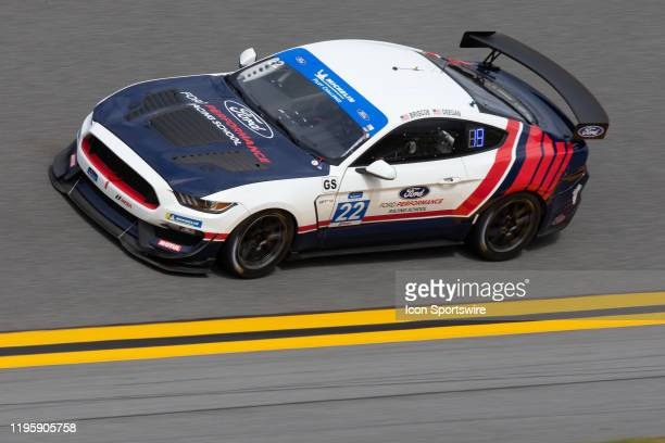 The Multimatic Motorsports Inc Ford Mustang GT4 of Hailie Deegan and Chase Briscoe during the BMW Endurance Challenge at Daytona on January 24 2020...