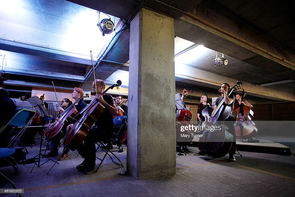 The Multi-Story Orchestra perform Jean Sibelius' 5th Symphony at the Peckham Rye Car Park on June 21, 2014 in London, England. The performance is one of a series that the orchestra will be performing in the South London car park throughout the summer, hoping to bring classical music to new audiences.