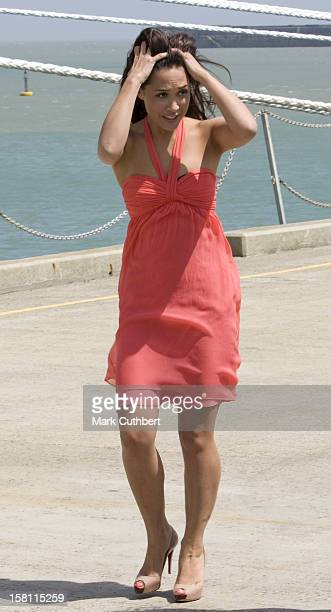 The Multi-Talented Myleene Klass Performs Her First Ever Ship's Godmother Duties When She Officially Named The Carnival Splendor At Dover Cruise...