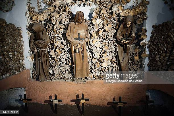 The mummies of Capuchin monks are seen in the crypt during the opening of the museum in the Capuchin convent of the Immaculate Conception of the...