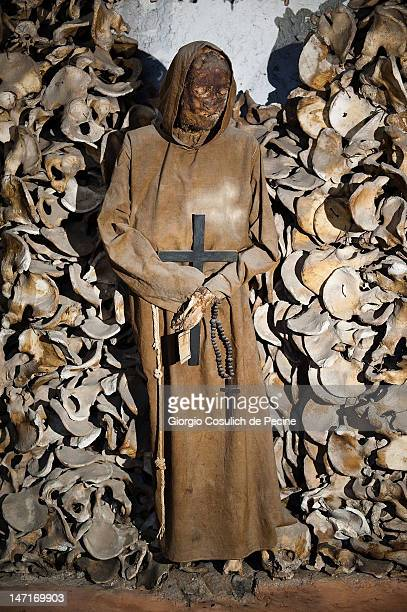 The mummy of a Capuchin monk is seen in the crypt during the opening of the museum in the Capuchin convent of the Immaculate Conception of the...