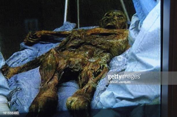 The Mummy Of Ötzi Depuis la découverte du corps congelé d'une momie sur le versant italien du glacier Similaun dans les Alpes tyroliennes par deux...