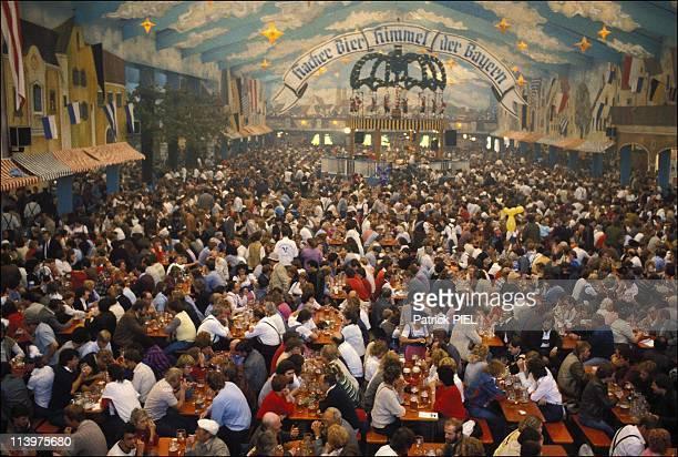 The Munich Oktoberfest in Munich Germany In September 1984The Munich Oktoberfest known by the locals as the 'Wiesn' is the biggest public festival in...