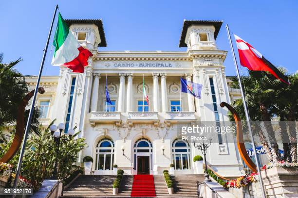 the municipal casino in san remo, liguria, italy - san remo italy stock pictures, royalty-free photos & images