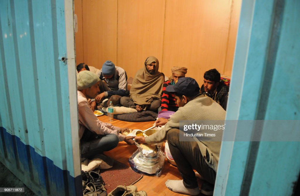 Gurugram Corporation Providing Food At Night Shelters