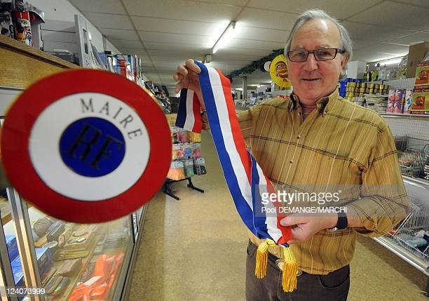 The Municipal election 2008 the range of new mayor In Nancy France On March 07 2008 The tricolor scarf