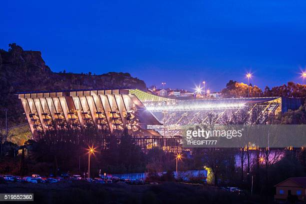 The Municipal Stadium of Braga Axa in the evening