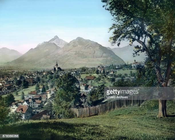 The municipality of Schwyz at canton Schwyz Switzerland ca 1910s