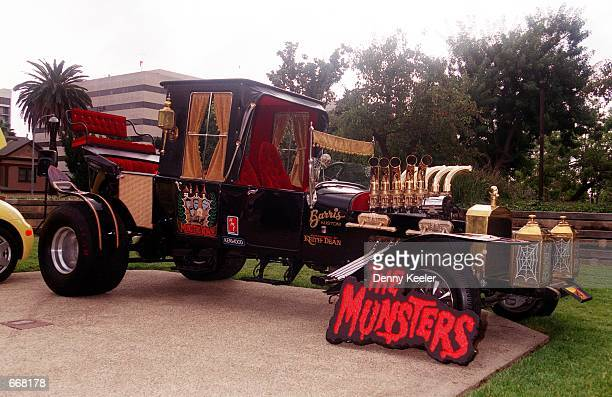 The Munster Koach designed by Star Car creator George Barris is on display at George Barris'' Halloween Bash 2000 Car Show October 28 2000 in...