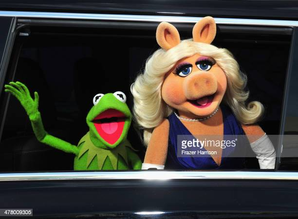 The Muppets arrive at the premiere of Disney's Muppets Most Wanted at the El Capitan Theatre on March 11 2014 in Hollywood California