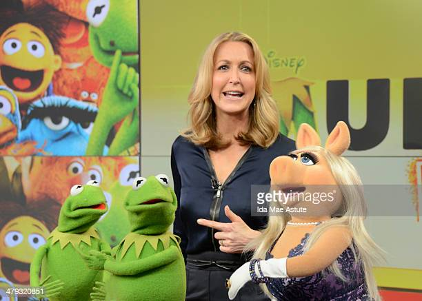 AMERICA The Muppets take over GOOD MORNING AMERICA 3/14/14 airing on the ABC Television Network KERMIT LARA