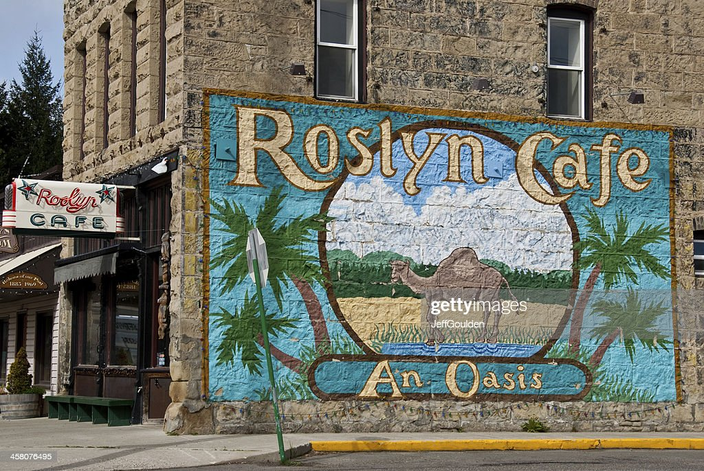 Mural at the Roslyn Cafe : Stock Photo