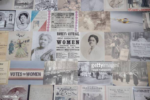 """The mural, titled """"Our Story: Portraits of Change,"""" of civil rights icon Ida B. Wells was designed by artist Helen Marshall of the Peoples Picture on..."""