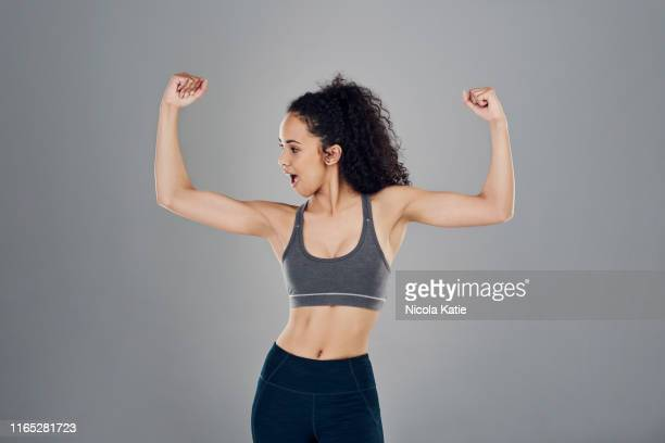 The muscular victory is hers