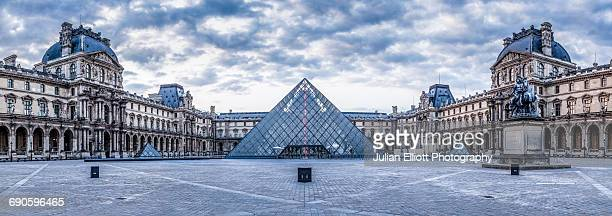 The Musee du Louvre in Paris, France.