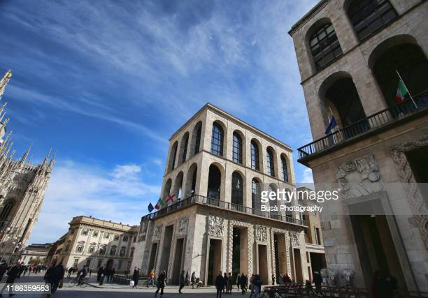 "the museo del novecento (""museum of the twentieth century"") in the palazzo dell'arengario, near piazza del duomo in milan, italy - history museum stock pictures, royalty-free photos & images"