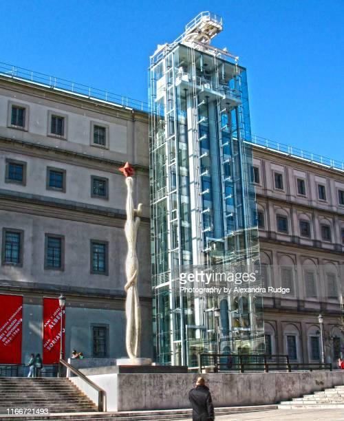 the museo nacional centro de arte reina sofía. - museo nacional centro de arte reina sofia stock pictures, royalty-free photos & images