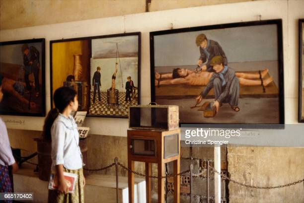 The museum housed in the former S21 prison displays photographs of prisoners slated for execution during the brutal 19751979 regime of Pol Pot