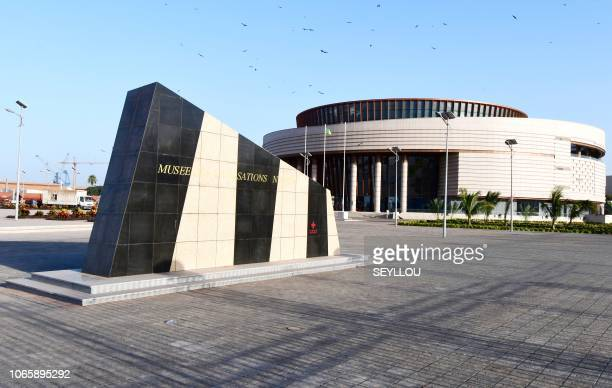 The Museum of Black Civilisations is presented to the press on November 27 2018 in Dakar ahead of its opening set for December 6 2018