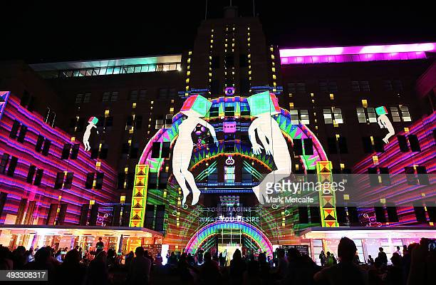 The Museum of Contemporary Art Australia is illuminated as part of VIVID Live at Sydney Opera House on May 23 2014 in Sydney Australia VIVID Sydney...