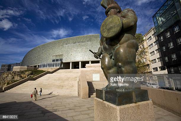 The Museum of Mankind and sculpture of Fernando Botero in A Coruna Galicia