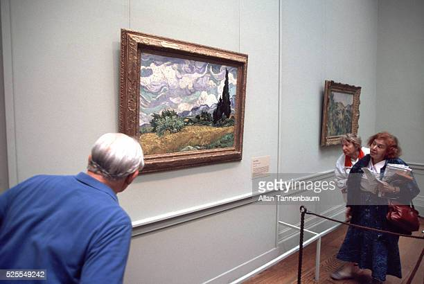 The Museum of Modern Art acquires 'Wheat Field with Cypresses' by Vincent Van Gogh New York New York March 25 1993