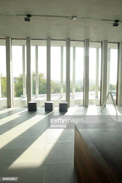 The Museum of Modern Literature stands in Marbach Germany on Monday Oct 10 2007 The museum designed by David Chipperfield Architects won the 12th...