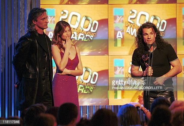 The Music Awards 2000 ceremony in Monaco city Monaco on May 10 2000 Laetitia Casta David Ginola and Bruno Pelletier