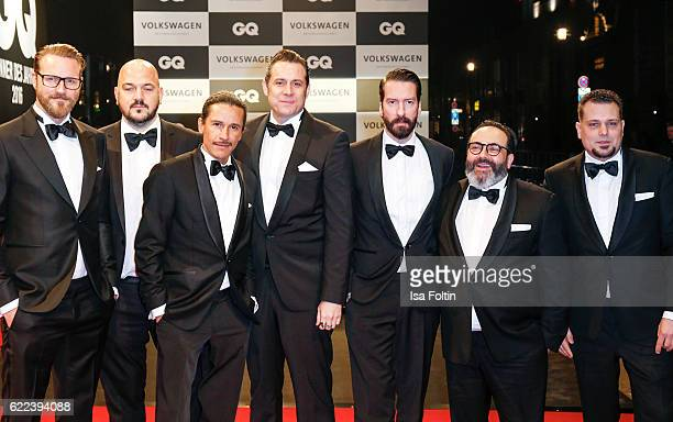 The music band 'Boss Hoss' with Sascha Vollmer and Alec Voelkel attend the GQ Men of the year Award 2016 at Komische Oper on November 10 2016 in...