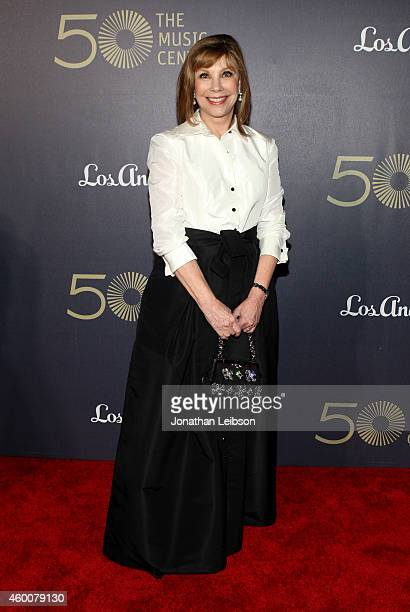 The Music Center Board of Directors' Lisa Specht attends The Music Center's 50th Anniversary Spectacular at The Music Center on December 6 2014 in...