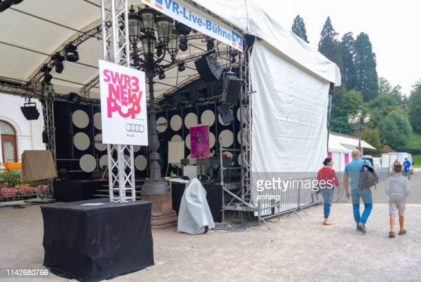 the music festival in casino baden-baden garden, germany (kurhaus baden-baden) - kurhaus baden baden stock-fotos und bilder