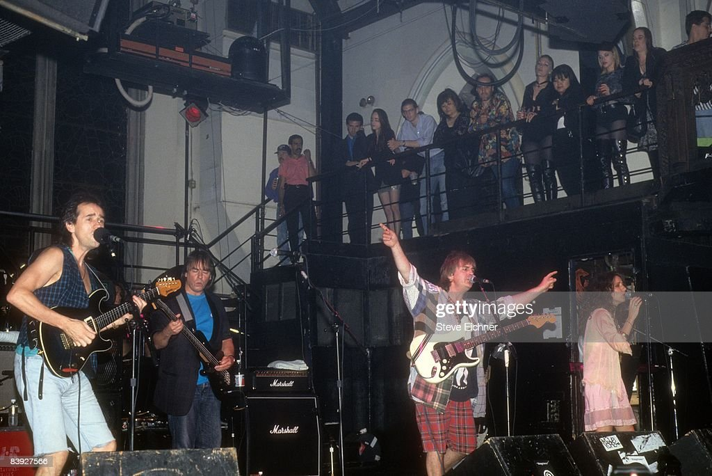 The music group Bay City Rollers performing at the Limelight nightclub, 1993. United States.