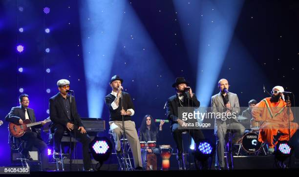 The music group 'Soehne Mannheims' performs during the 'Jose Carreras Gala' rehearsal on December 18 2008 in Leipzig Germany