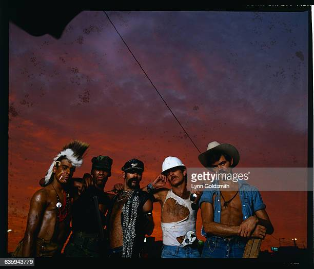 The Music Group The Village People are shown together