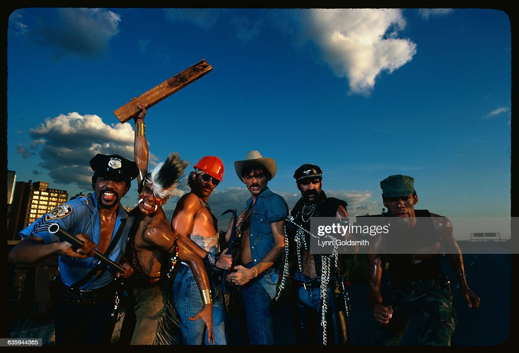 Village People Posing with Musical Instruments : News Photo