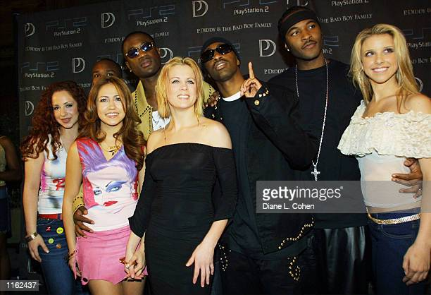The music groups Dream and112 attend the Sean 'P Diddy' Combs record release party presented by Playstation September 5 2001 in New York City