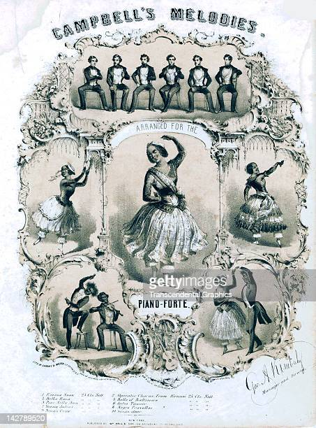 The music of Campbell's Minstrels is illustrated on this piece of sheet music published by William Hall & Son in 1848 in New York City.