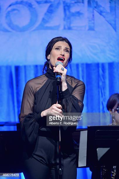 FOREVER the music of Disney's Frozen was celebrated with live performances at Los Angeles Vibrato Grill Jazz club tonight Kristen Bell Idina Menzel...