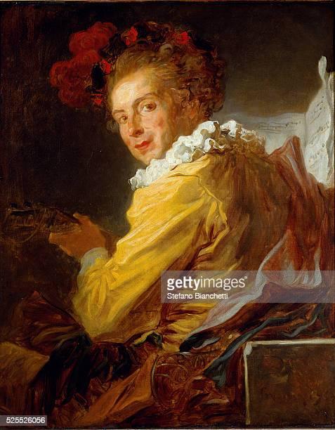 The Music Portrait of Monsieur de la Breteche brother of the Abbe SaintNon 1769 Oil on canvas by Jean Honore Fragonard 80 x 65 cm Paris Louvre Museum