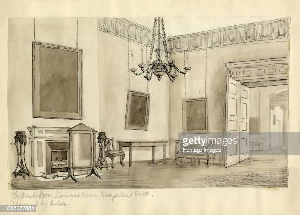 The Music Room Kenwood House Hampstead Heath' circa 1950 Kenwood House in north London was remodelled by Robert Adam from 17641779 Artist Shirley...