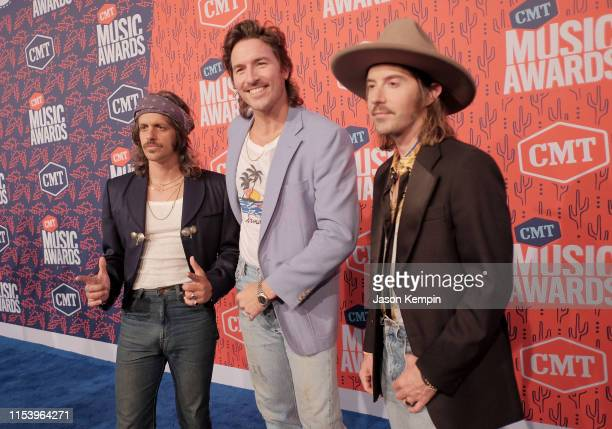 The musical group Midland attends the 2019 CMT Music Awards at Bridgestone Arena on June 05 2019 in Nashville Tennessee