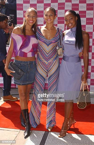 The musical group Misteeq arrives at the 2002 Maxim Woman of the Year Awards presented by Maxim Magazine