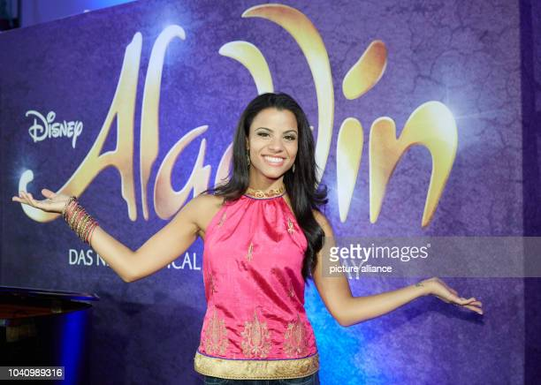 The musical lead Myrthes Monteiro poses as Jasmine during rehearsal for the musical 'Aladdin' at the Stage Theater Neue Flora in Hamburg Germany 12...