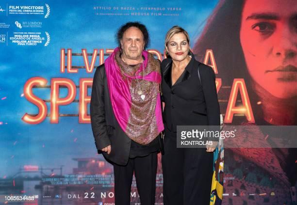 The musician Enzo Avitabile and the actress Cristina Donadio at the presentation of the drama 'Il vizio della speranza' directed by Edoardo De...