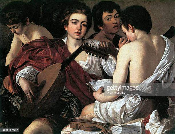 'The Musicians' c1595 One of a number of realistic paintings of halflength figures painted in Rome for aristocratic patrons Although it was described...