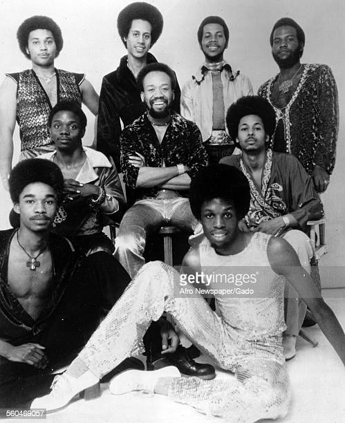 The musicians of the band Earth Wind and Fire on 'What's Happening' television show Baltimore Maryland 1960