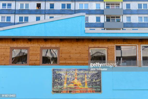 The Muslim cultural center and mosque following a recent attack is seen just before the beginning of the visit of Aydan Ozoguz German Federal...